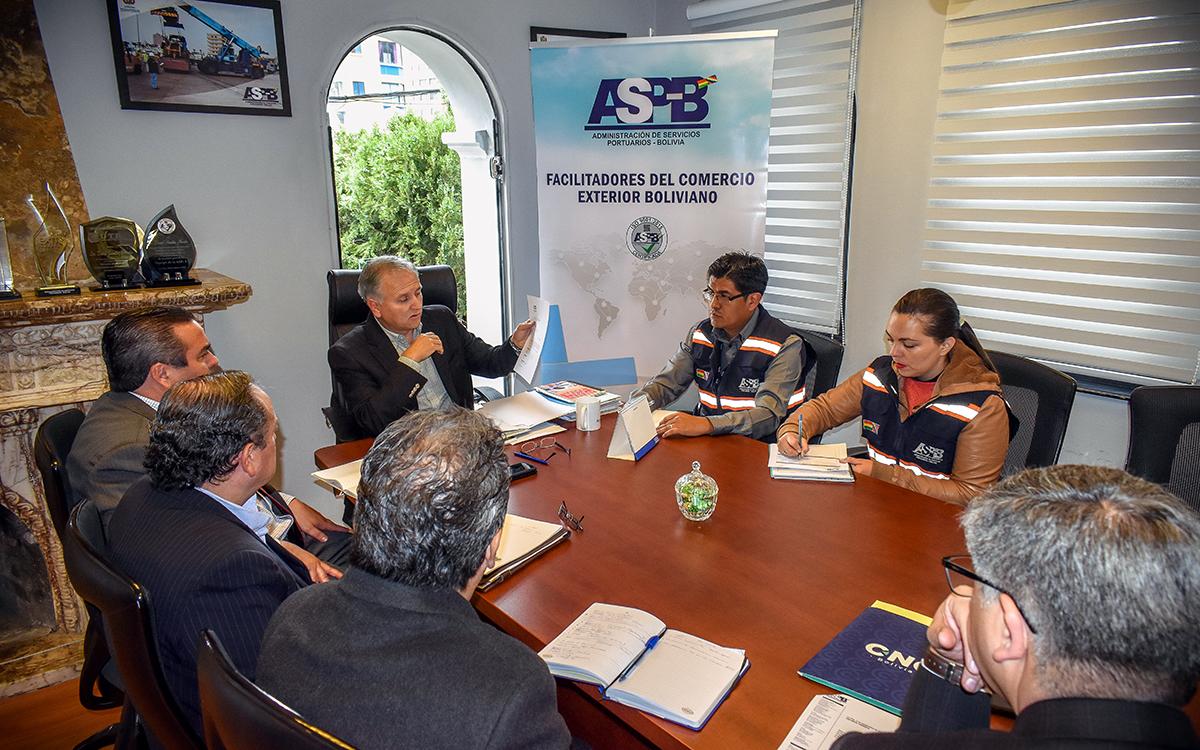 ASP-B y empresarios privados definen nueva reunión para análisis de cadena logística en Puerto Arica
