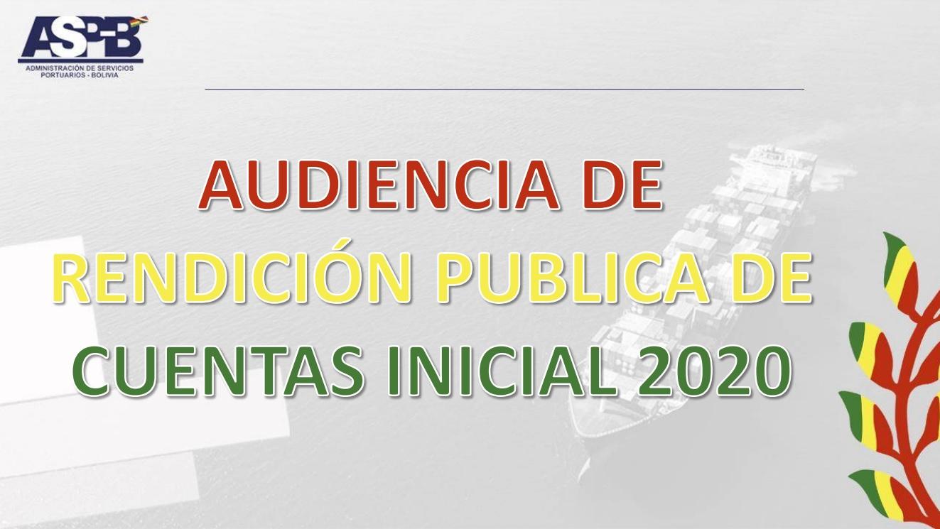 ASP-B digitaliza la Rendición Pública de Cuentas Inicial – 2020
