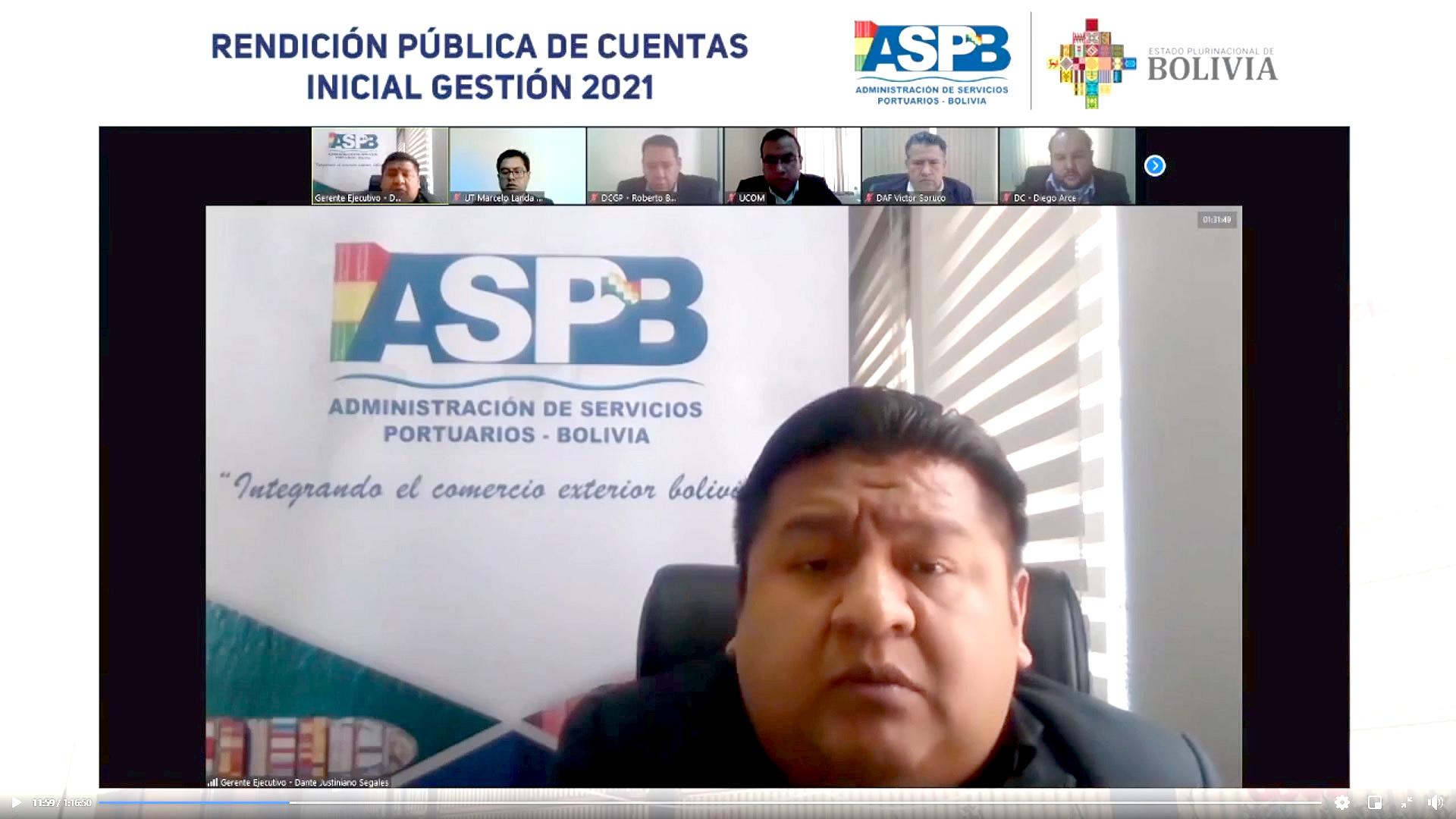 LA ASP-B PRESENTÓ LA RENDICIÓN PÚBLICA DE CUENTAS INICIAL 2021