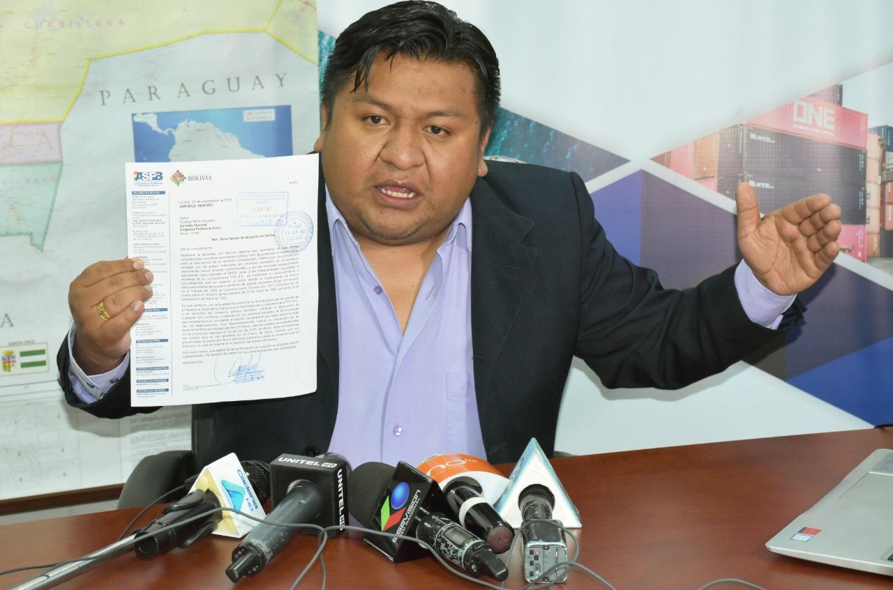 """ASP-B solicita por décimo séptima vez un acuerdo """"corto"""" para viabilizar el normal tránsito de carga boliviana por Arica"""